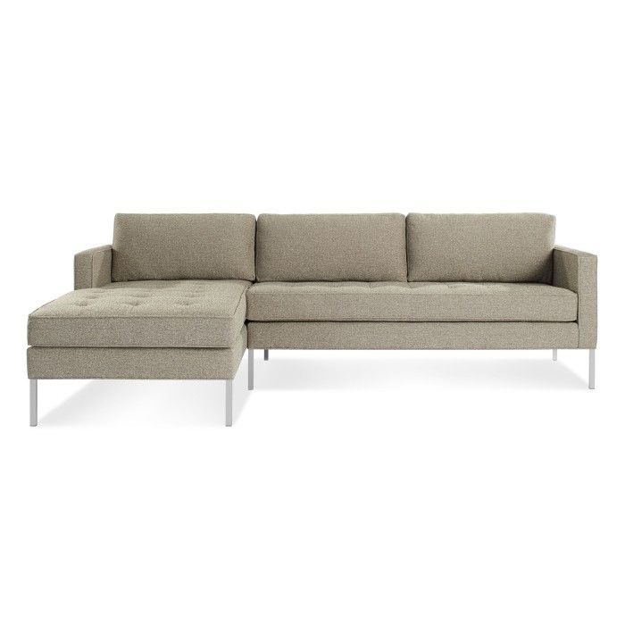 Paramount Modern Chaise Sofa with Left Chaise Blu Dot
