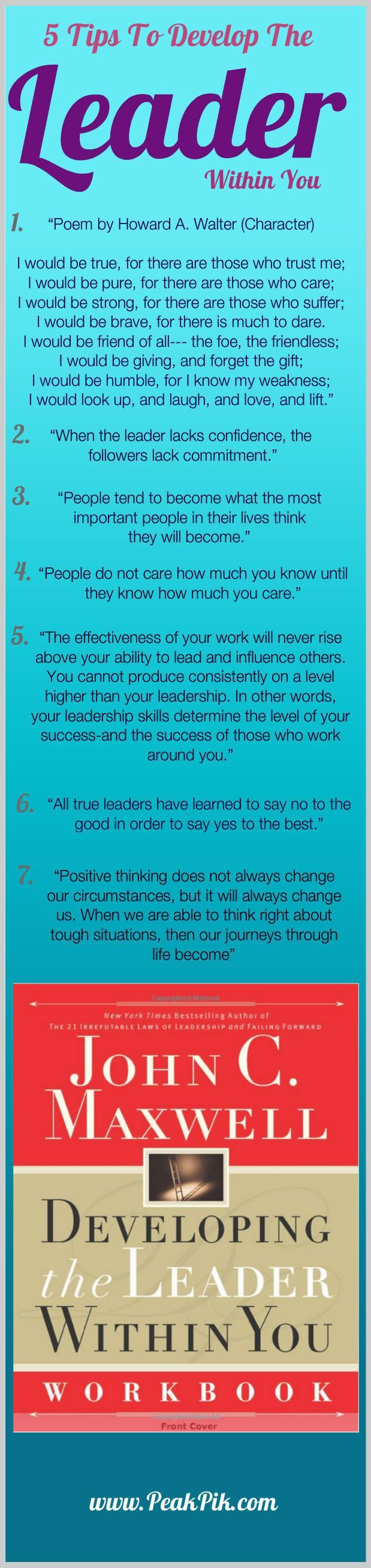 Daily Tips And Motivation Developing the Leader Within