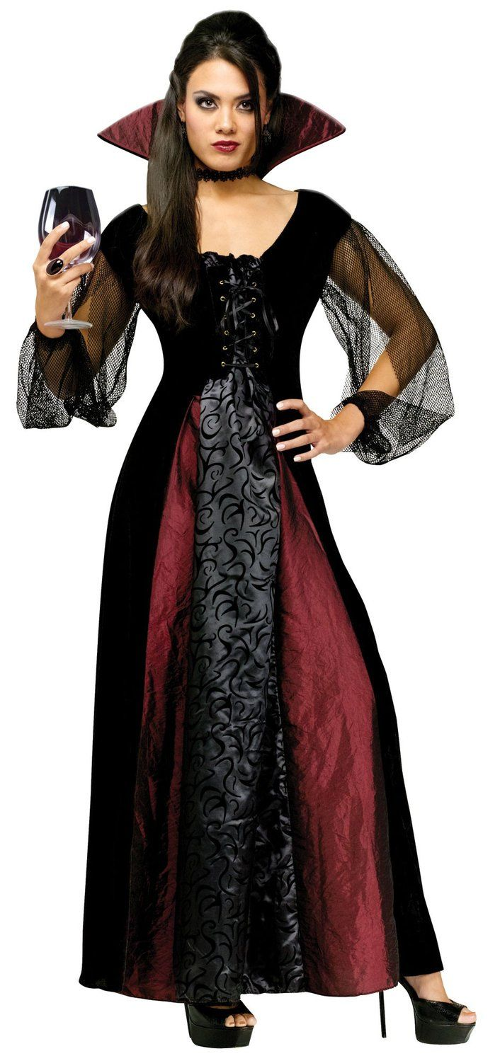 Womens Adult Maiden Gothic Vampire Costume  722392958d63