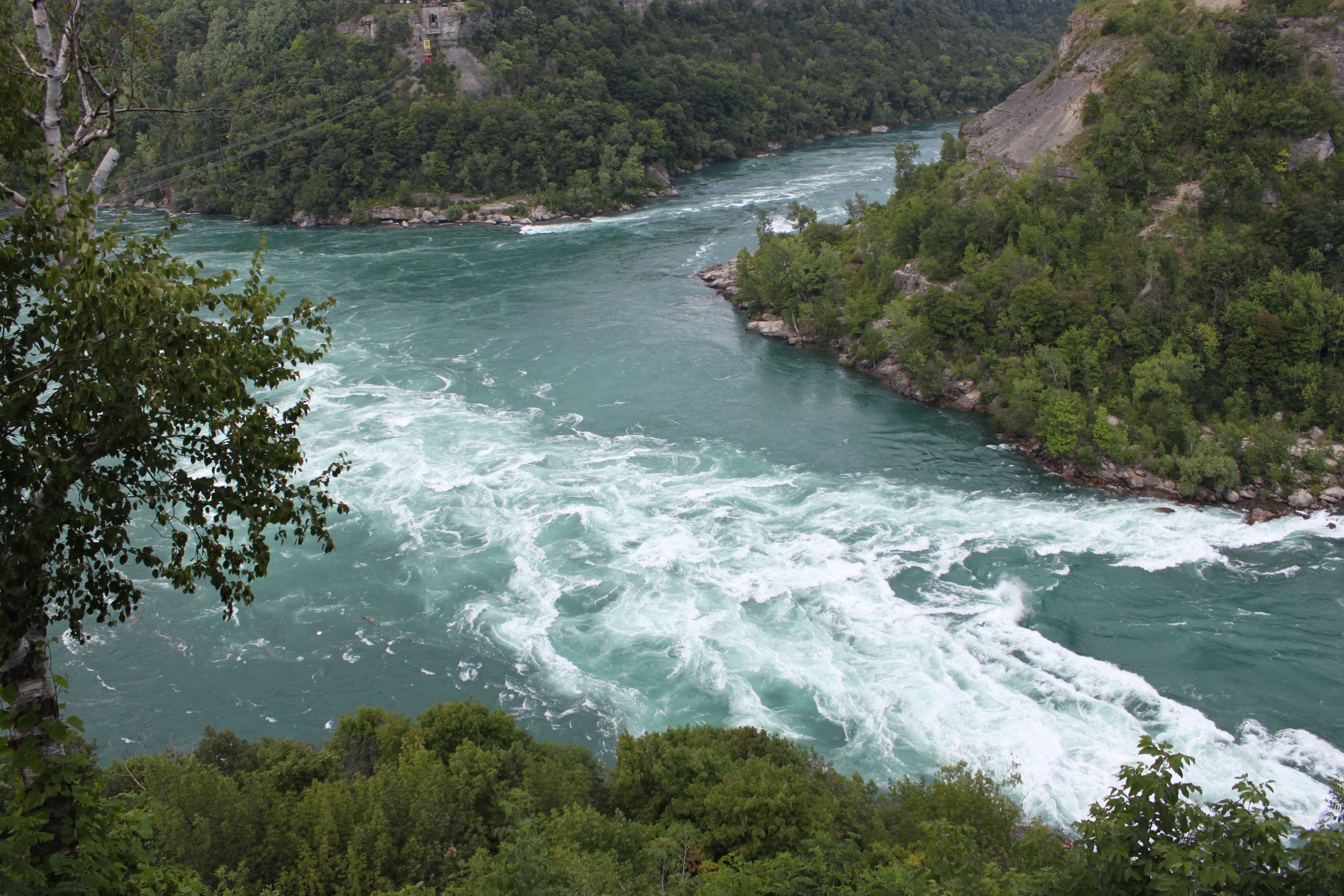 Down stream flow of Niagara Falls. 2015
