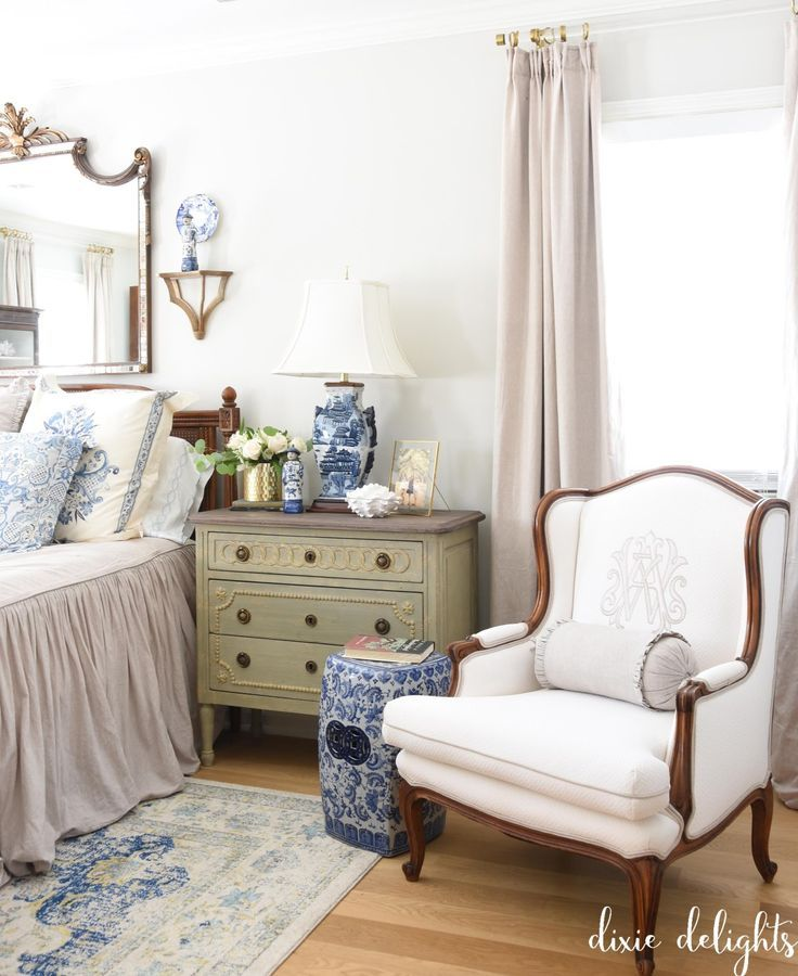 French Country Fall Home Tour {Bedside Chests for the Master