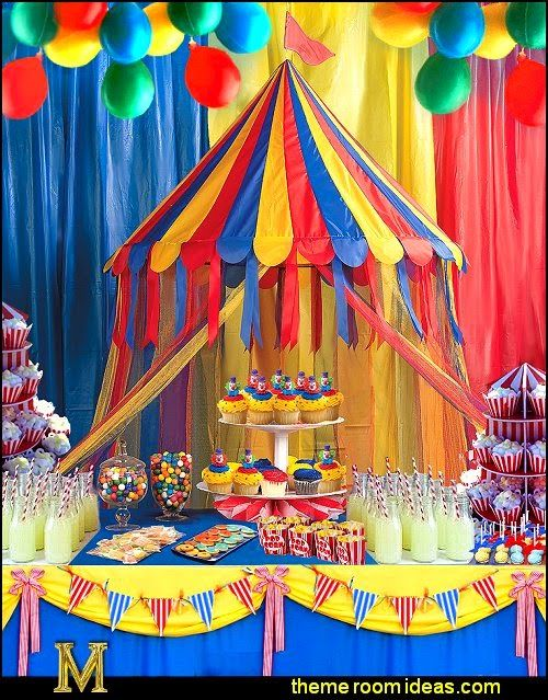 Circus Theme Decoration Ideas Part - 26: Carnival Birthday Parties