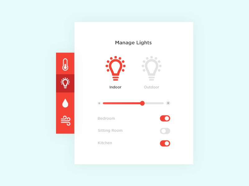 Daily UI #021 - Home Monitoring Dashboard by Olivia Ricci