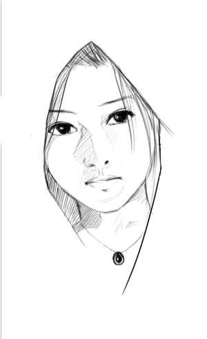Cloaked Woman By Kyr Deviantart Com On Deviantart Art Inspiration Girl Hiding Face Art