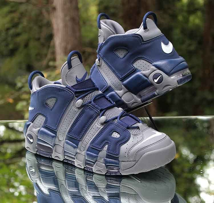 8c1c739d96 Nike Air More Uptempo Hoyas 921948-003 Grey White Navy Men's Size 9.5 #Nike  #BasketballShoes