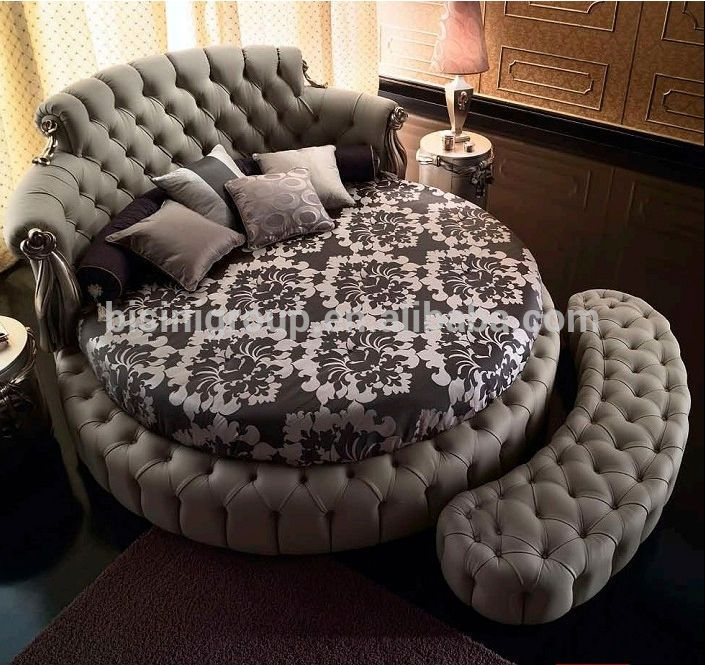 European Styled King Size Round Bed Bisini Luxurious