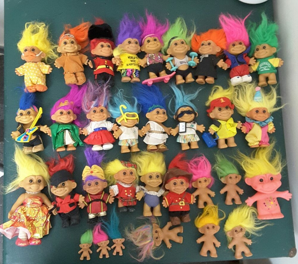 Original Rare Vintage 90s Russ Troll Collection 32 Dolls Collectable Lot In Bears