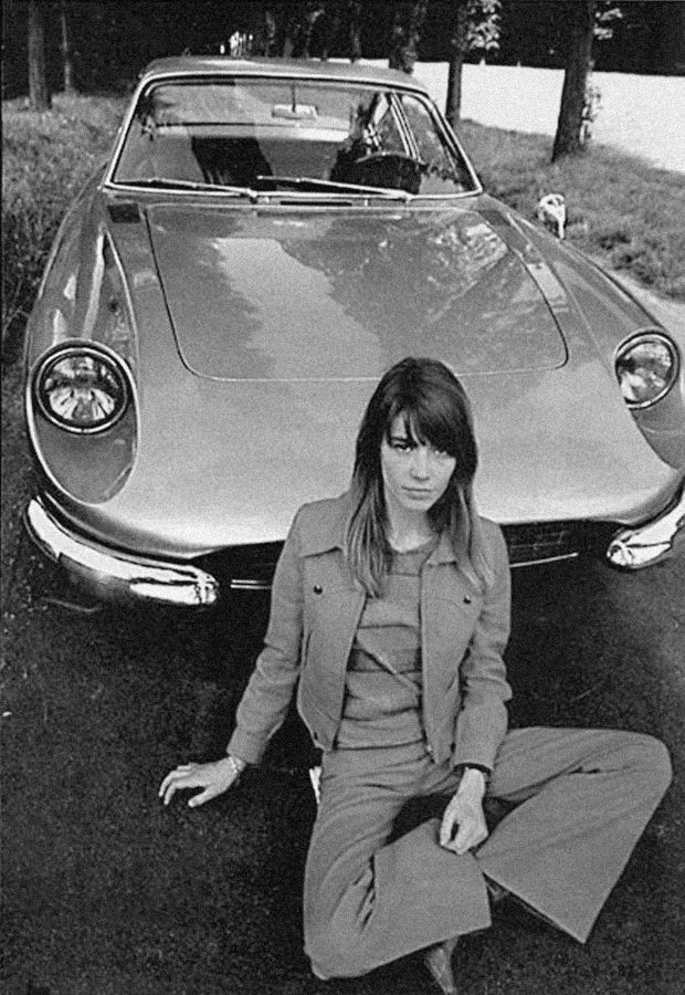 #FrancoiseHardy and #Ferrari 330GTC - Circa 1960's 1970's