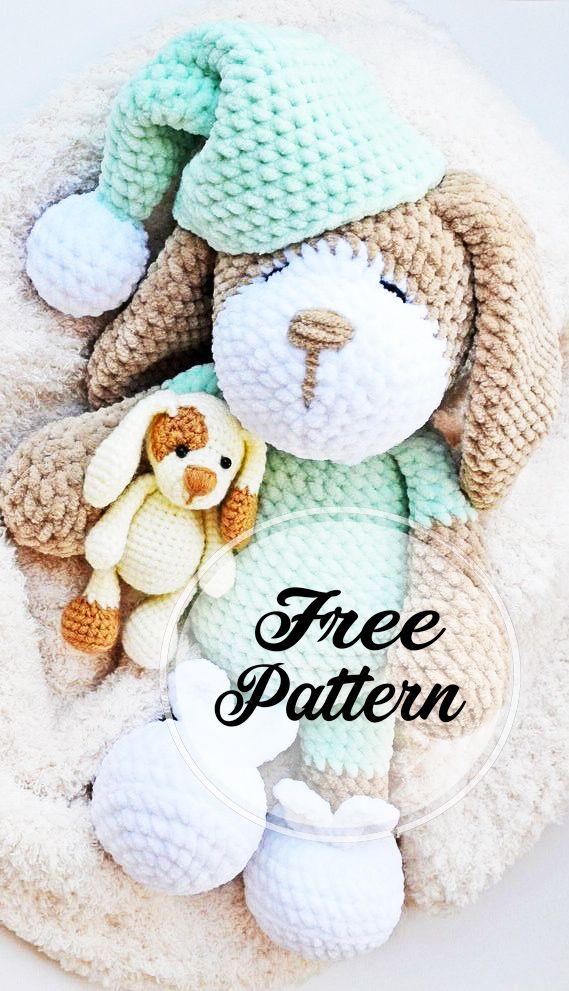 Modèle de Crochet Amigurumi pour chien endormi gratuit! – Motif Amigurumi gratuit, blog Amigurumi!   – Amigurumi