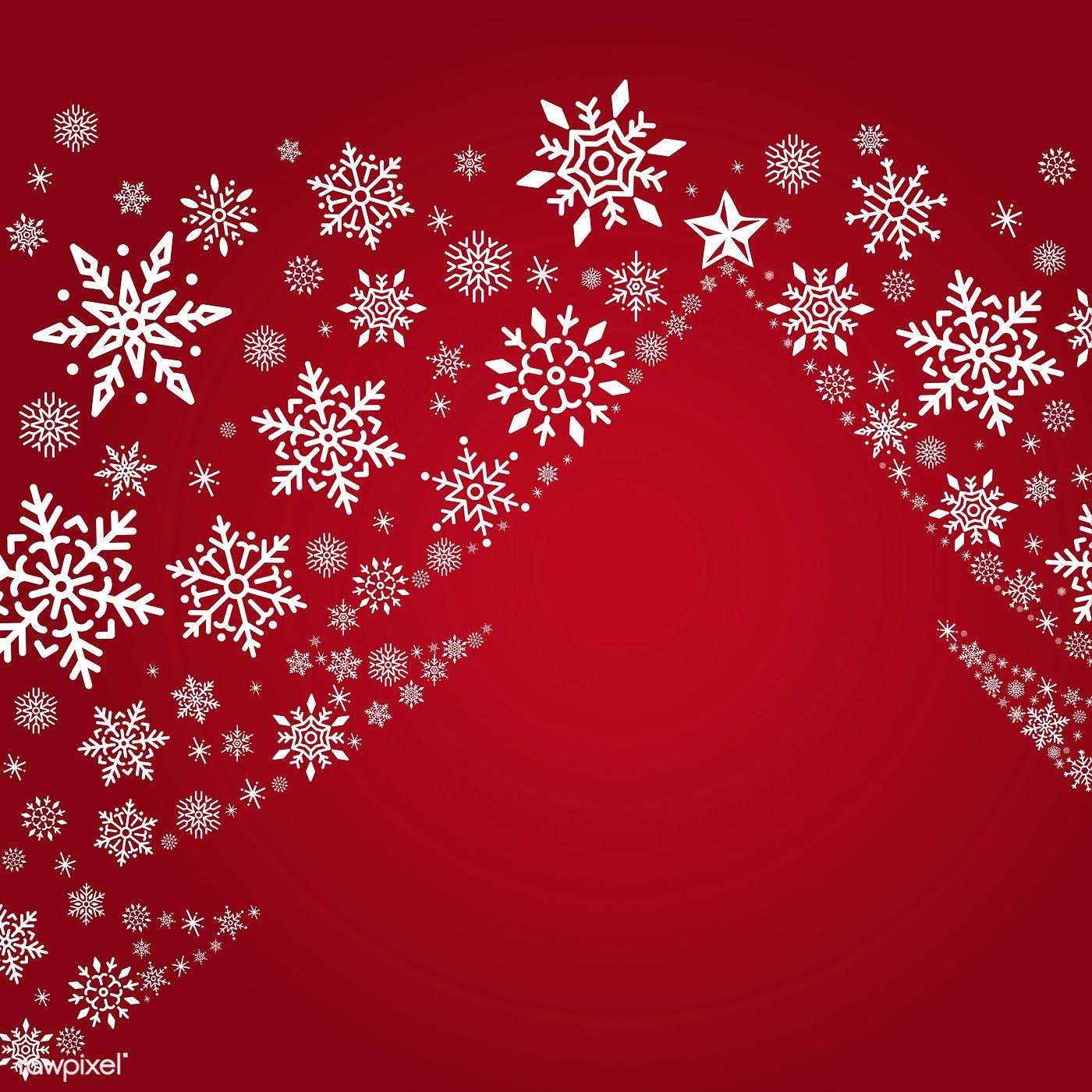 Red Christmas Winter Holiday Background With Snowflake And Christmas Tree Vector F Holiday Background Christmas Card Background Free Christmas Greeting Cards