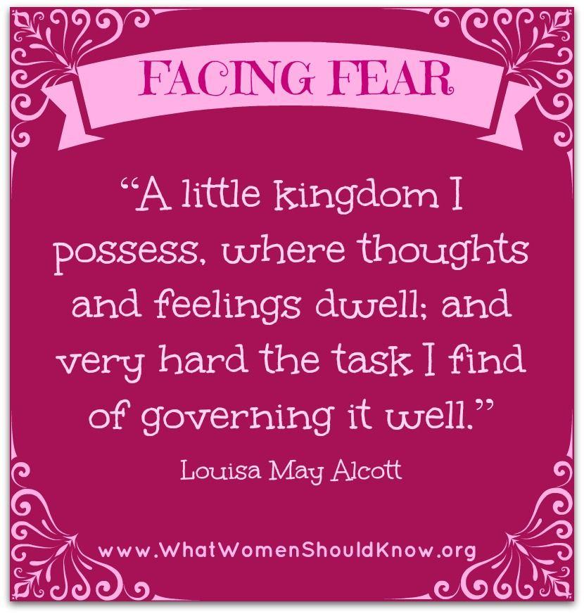 """A little kingdom I possess..."" Louisa May Alcott quote"