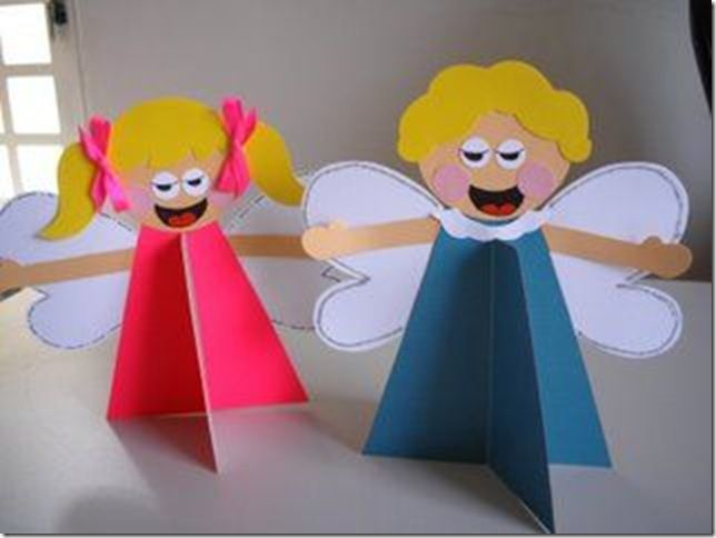 Manualidad de Navidad para niños, Árbol y ángel (shared via SlingPic