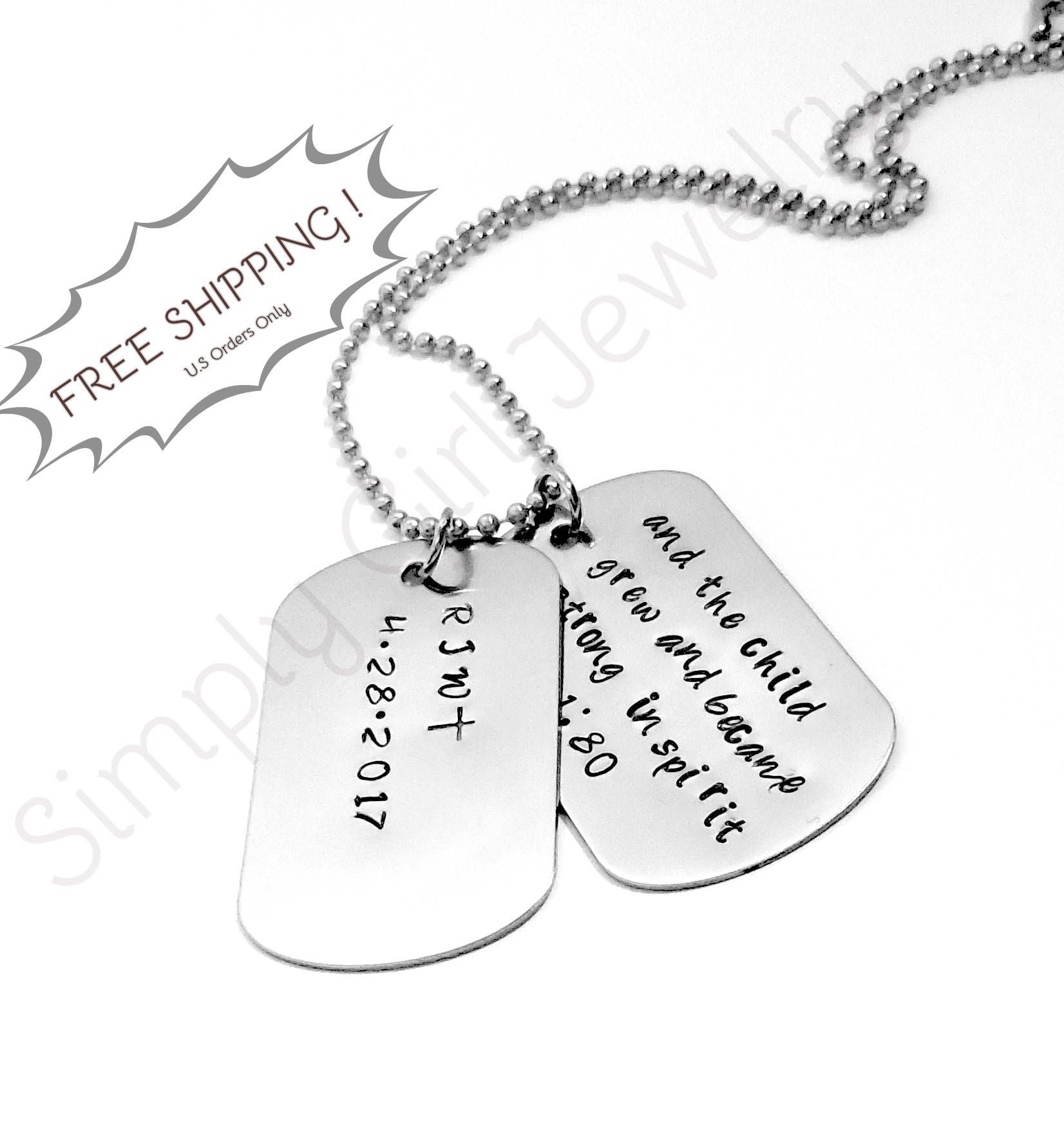 Dog Tags For Men Personalized Gift Christmas Gift