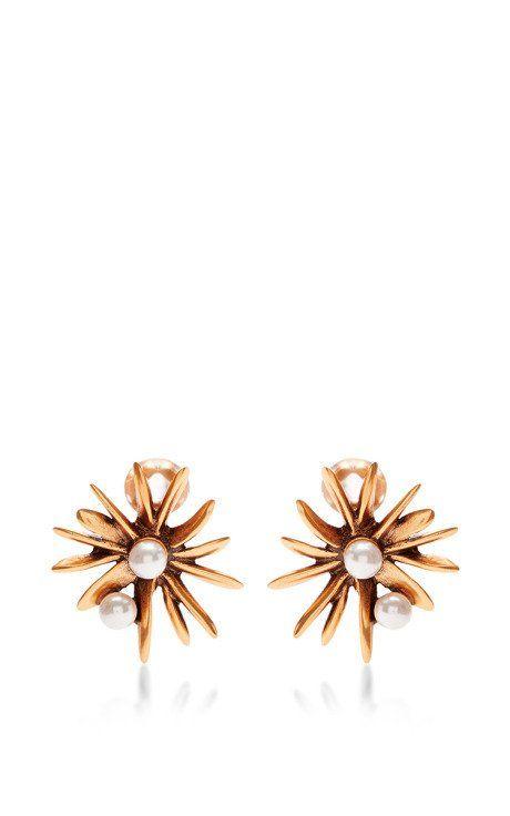 Starburst Earrings by Oscar de la Renta - Moda Operandi