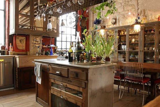 Rustic bohemian style evidently that 39 s what i 39 m drawn for Bohemian kitchen decorating ideas