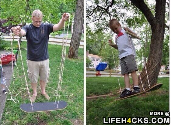 It Only Takes About 20 Minutes To Make This Skateboard Swing 51 Budget Backyard Diys That Are Borderline Genius