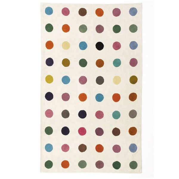 Handmade Multicoloured Spotty Rugs And