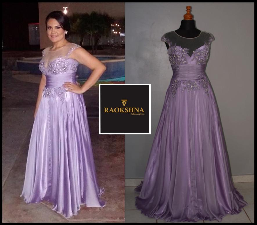 Vestido de fiesta creación exclusiva de Raokshna by Roxana Soria ...
