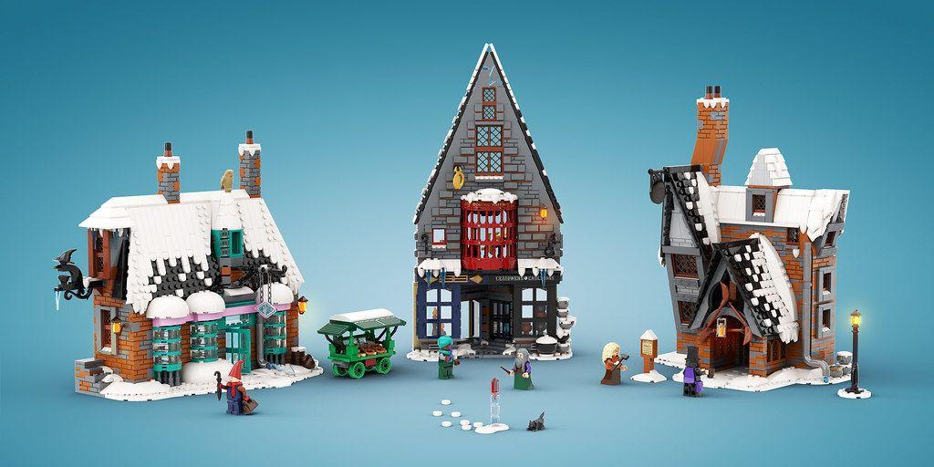Winter In Hogsmeade Lego Winter Lego Hogwarts Lego Harry Potter Moc
