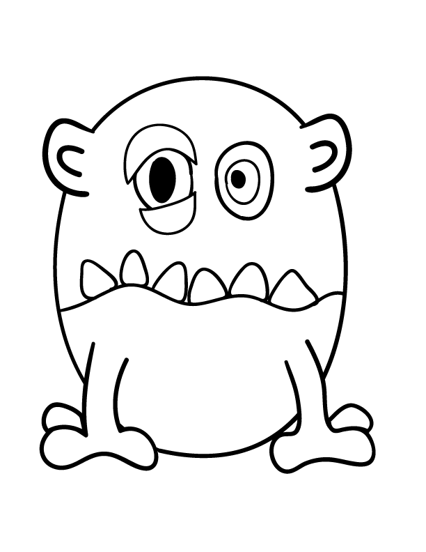 Monster Clipart Black And White Google Search Monster Coloring Pages Free Clip Art Monster Clipart