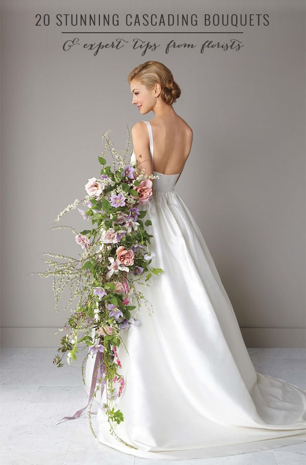 How To Make Bridal Bouquet Cascade : Cascading wedding bouquets on silk