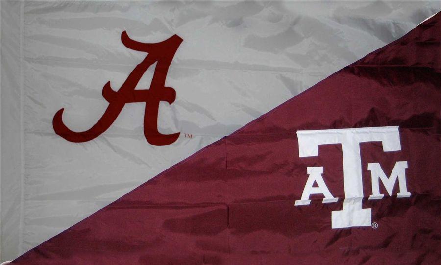 Alabama And Texas A M Hand Sewn Flag Texas A M House Divided