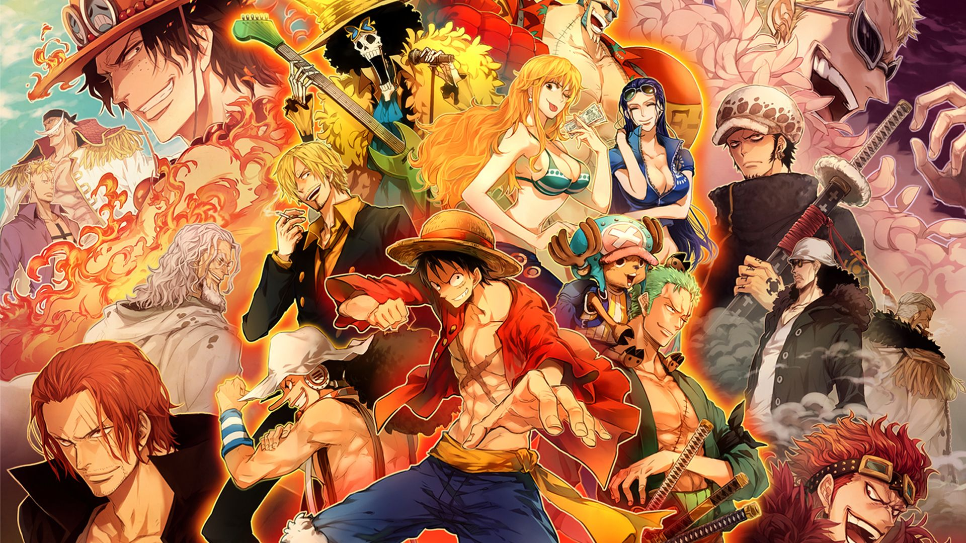 All Character Anime Movie One Piece Wallpaper For Desktop