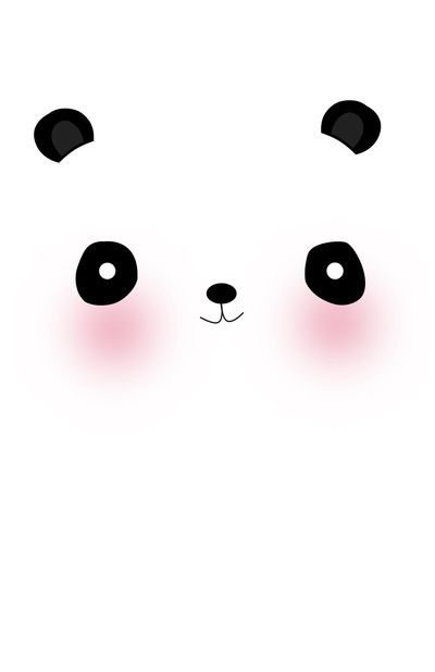gambar stiker kartun lucu  panda phone wallpaper background gambar hewan lucu