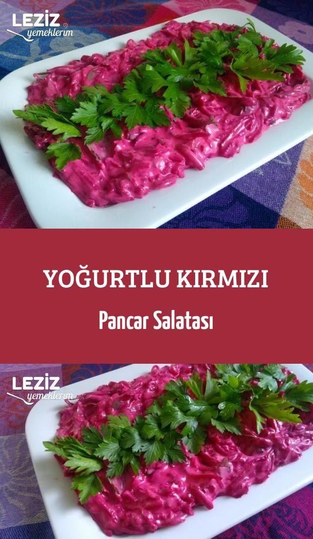 Yoğurtlu Kırmızı Pancar Salatası Leziz Yemeklerim Yemek Tarifi Pancar Salatası Leziz Yemek Garnitür
