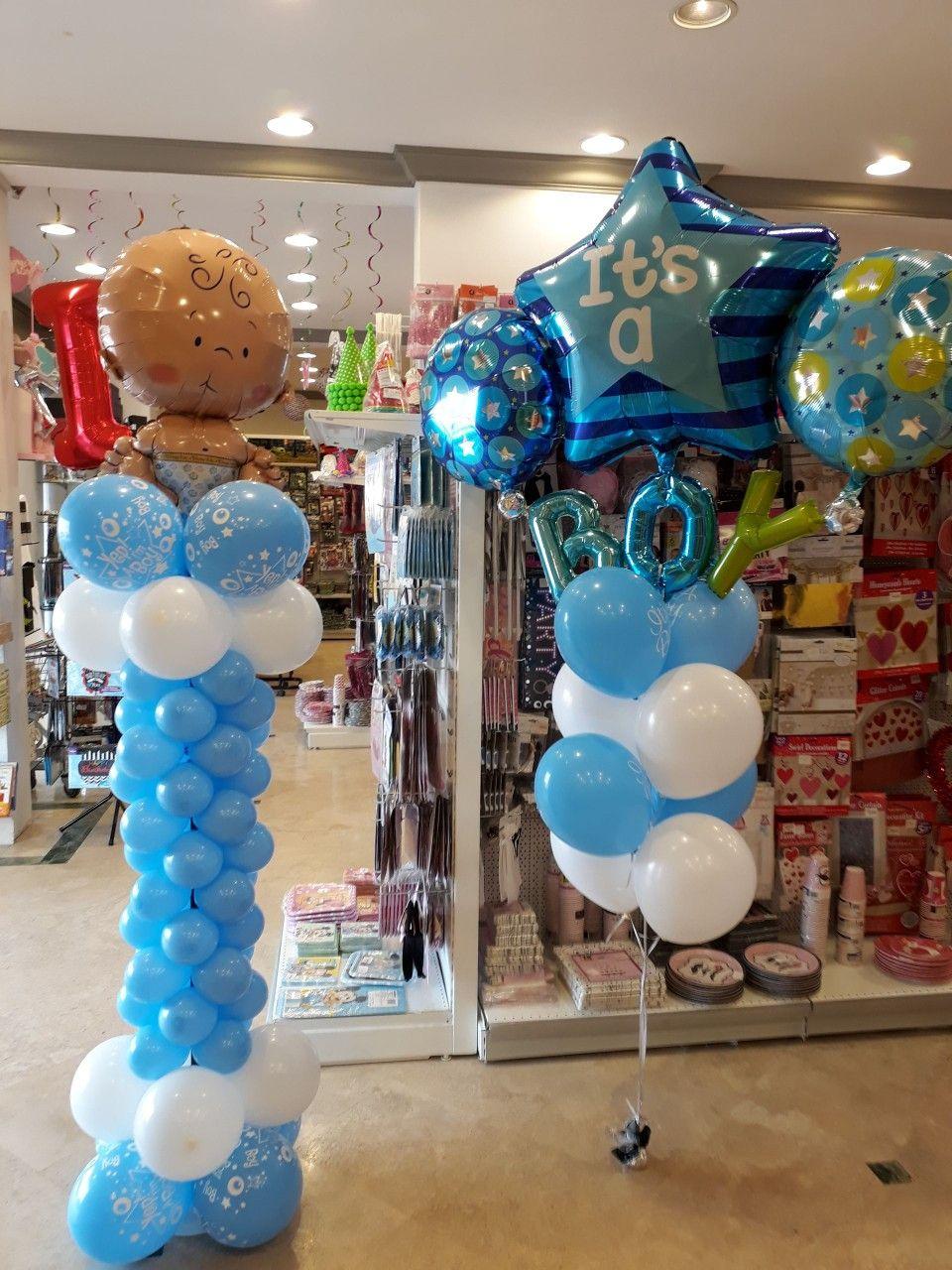 It S A Boy Balloons Newborn Cake