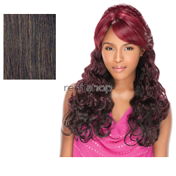 Empress Lace Front Edge Sarah (Bump Up! Style) - Color 4 - Synthetic (Curling Iron Safe) 2 Styles in 1 Lace Front Wig