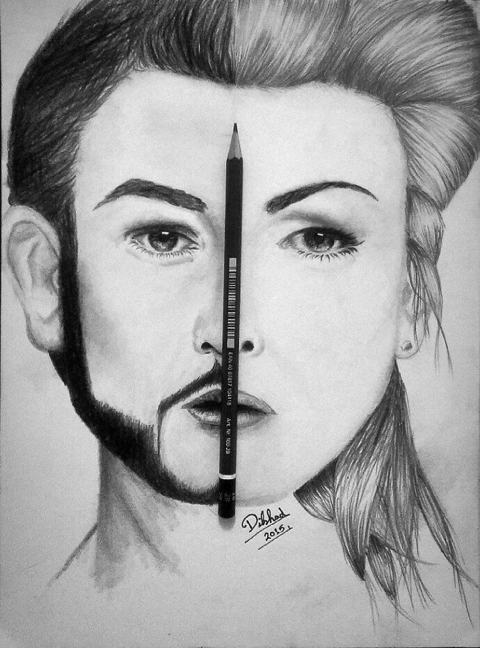 Male Sketch Art Male