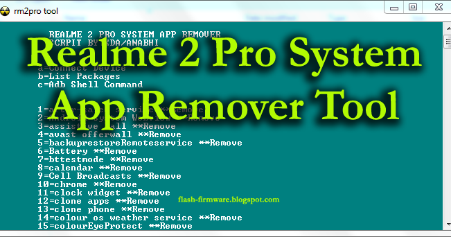 DownloadRealme 2 Pro System App Remover Tool Feature: Realme