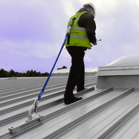 Fall Protection Anchorage Systems For Standing Seam Metal Roofing Standing Seam Metal Roof Roofing