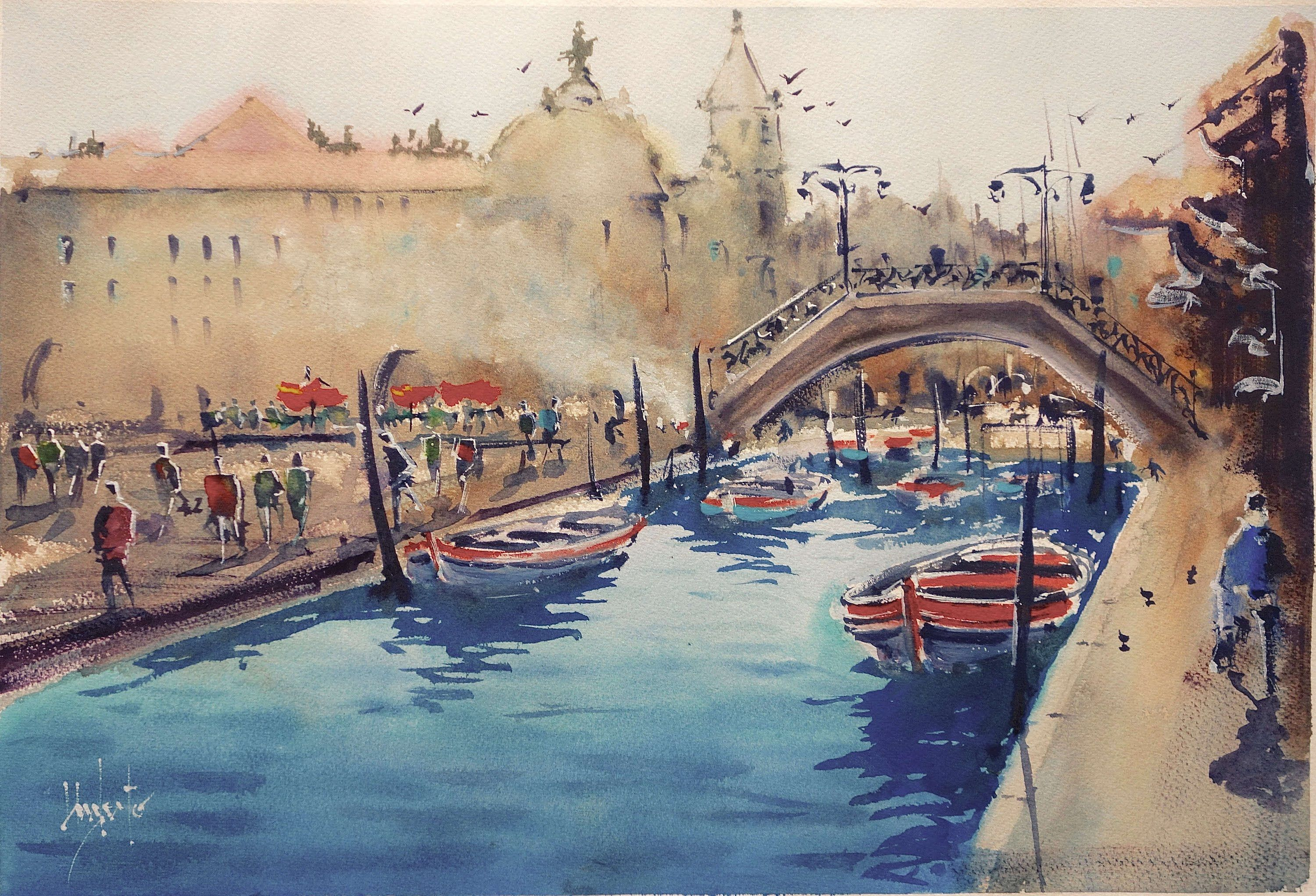 Classical Sketch From Venice Watercolor Video Watercolor
