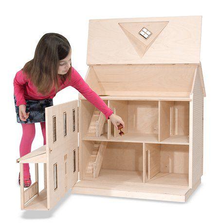 the house that jack built little bit wooden doll house. Black Bedroom Furniture Sets. Home Design Ideas