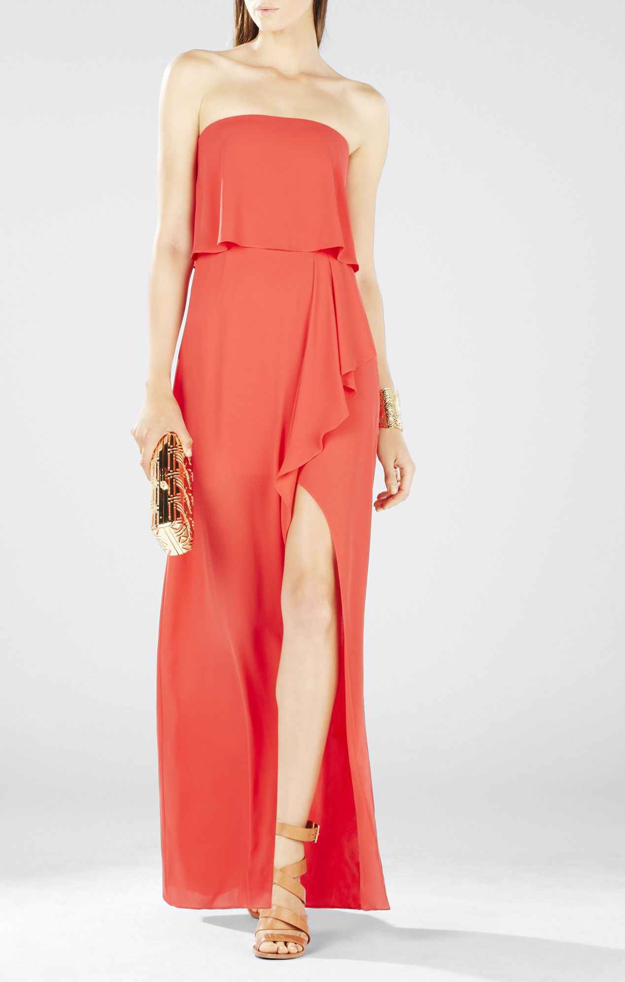Felicity Asymmetrical Front Slit Strapless Gown | From S ...