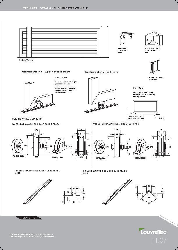 Detailed drawing louvretec sliding gates pdfg 612859 detailed drawing louvretec sliding gates pdfg 612 malvernweather Images