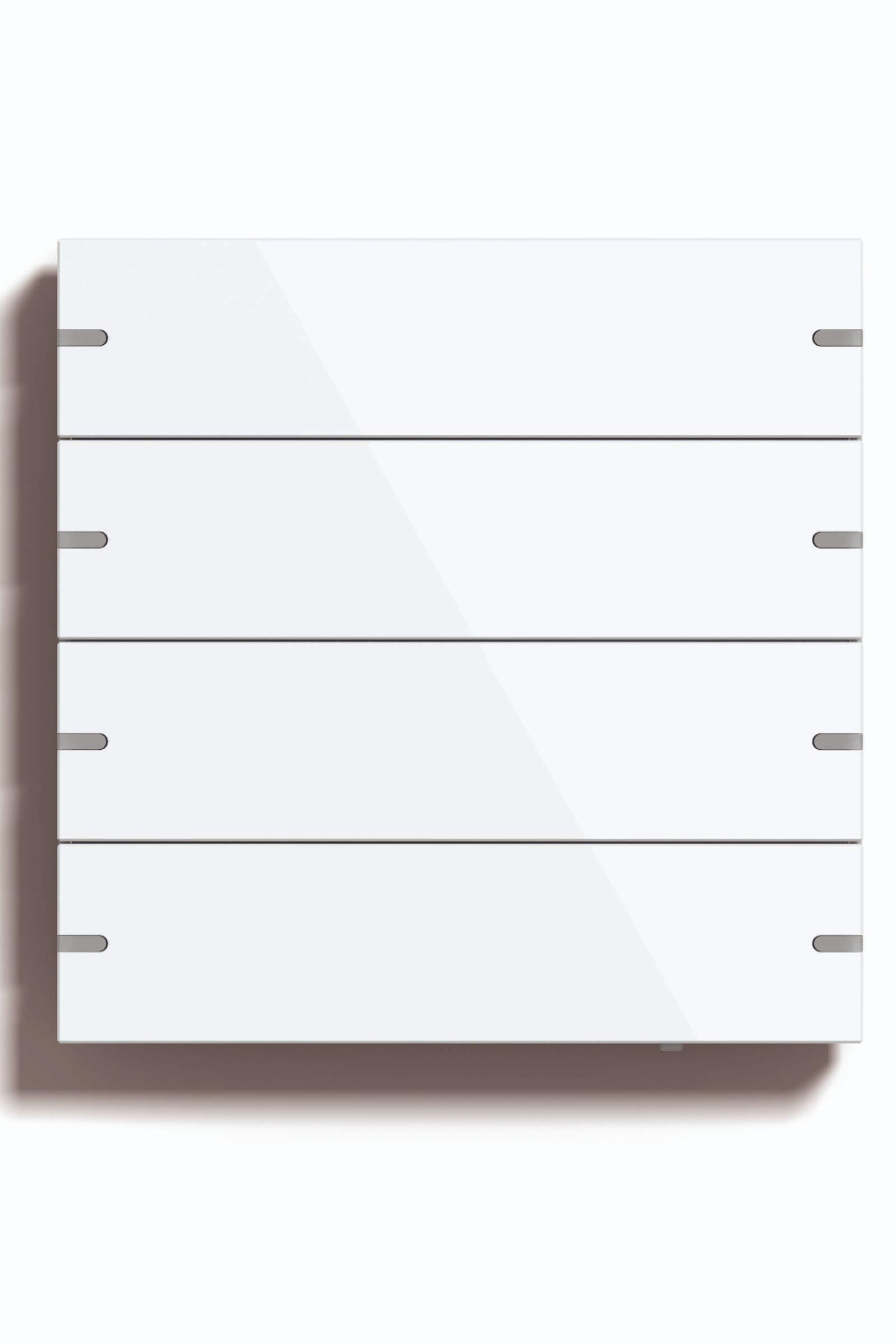 Smart Home Steuerung Mit Dem Gira Tastsensor 4 Hier In Glas Weiss Ohne Beschriftung In 2020 Neuheiten Smart Home Steuerung Elektroinstallation