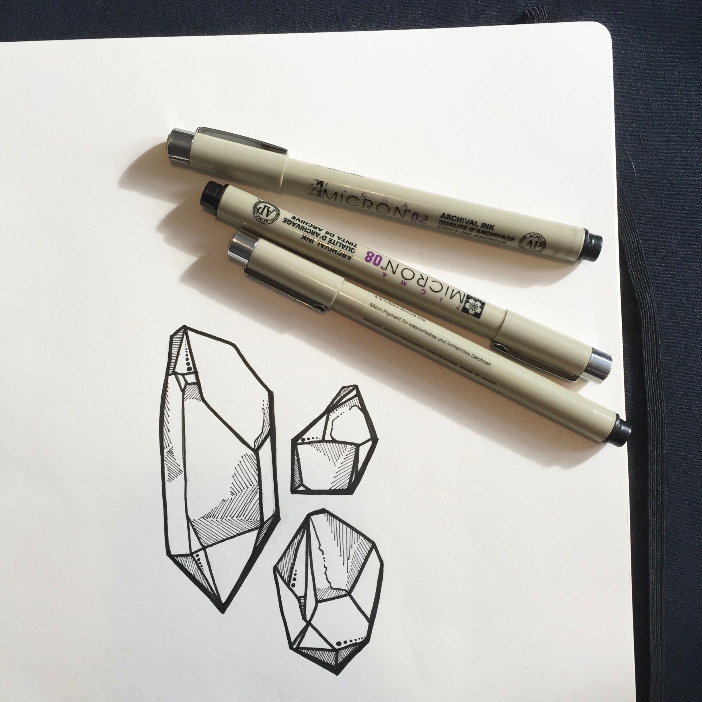 illustration, illustration of the day, crystals, handmade