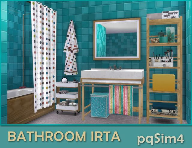 Sims 4 CC\'s - The Best: Bathroom Irta by pqSim4 | HOME OFFICE | Sims ...