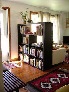 Entry Way Room Divider Book Case Shelves