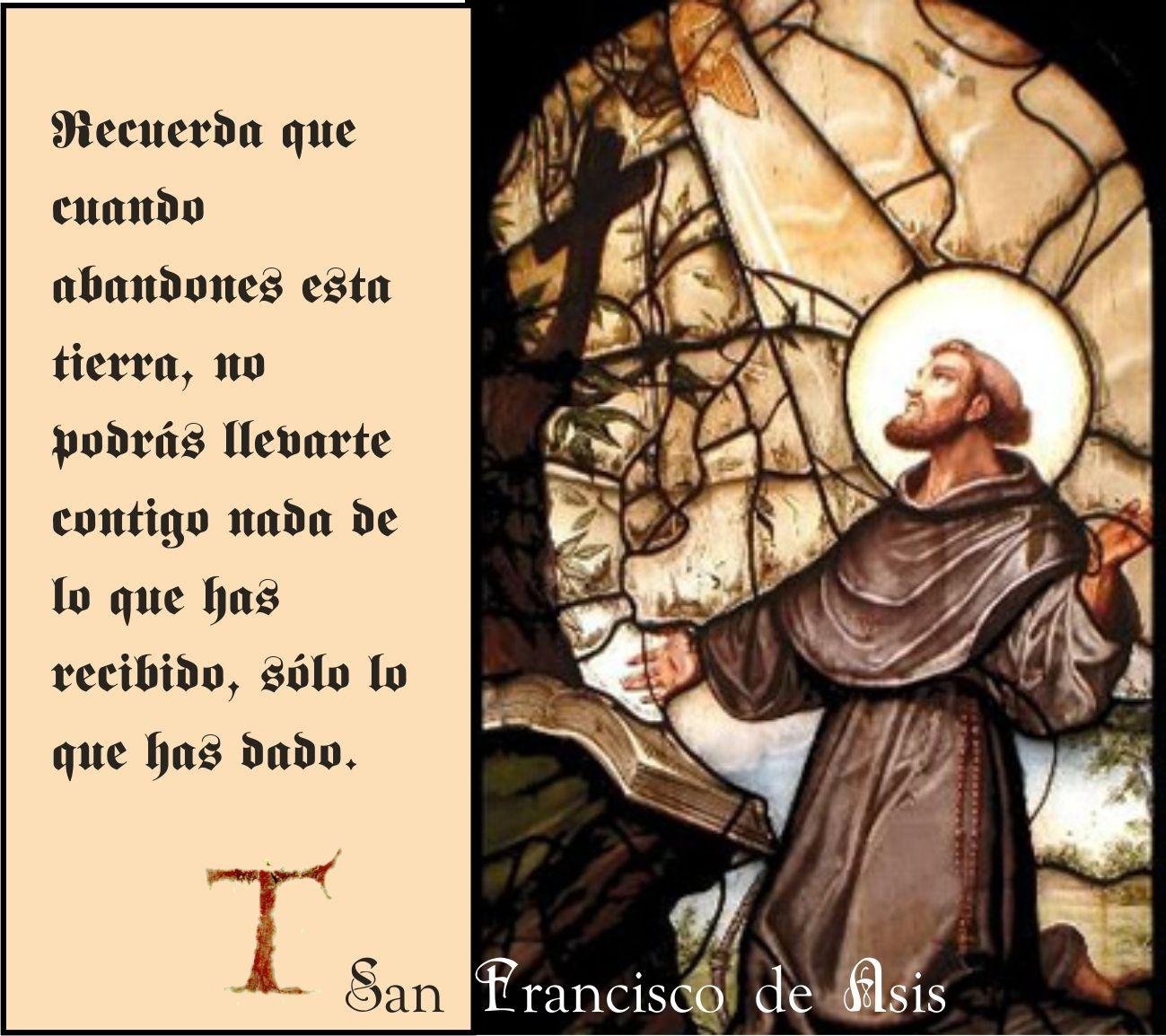 Tarjetas Y Oraciones Catolicas San Francisco De Asis Frases