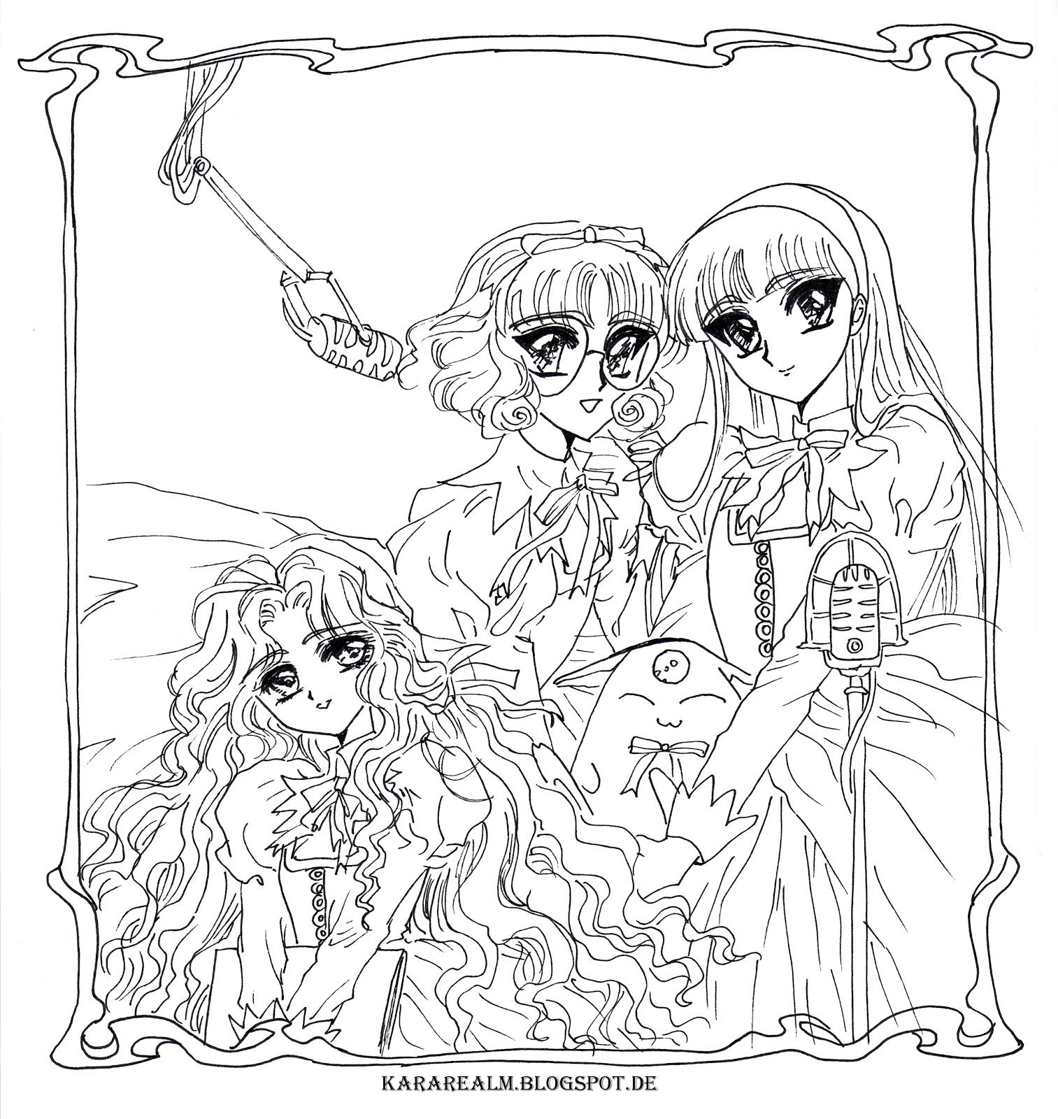 magic knights rayearth coloring pages magic knight rayearth