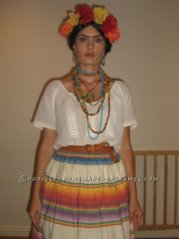 easy homemade frida kahlo halloween costume - Mexican Themed Halloween Costumes