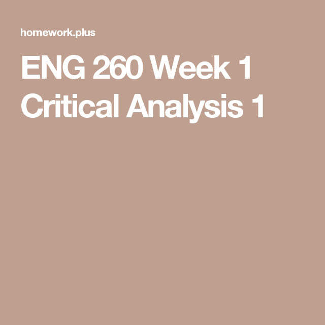 Eng  Week  Critical Analysis   University Grand Canyon