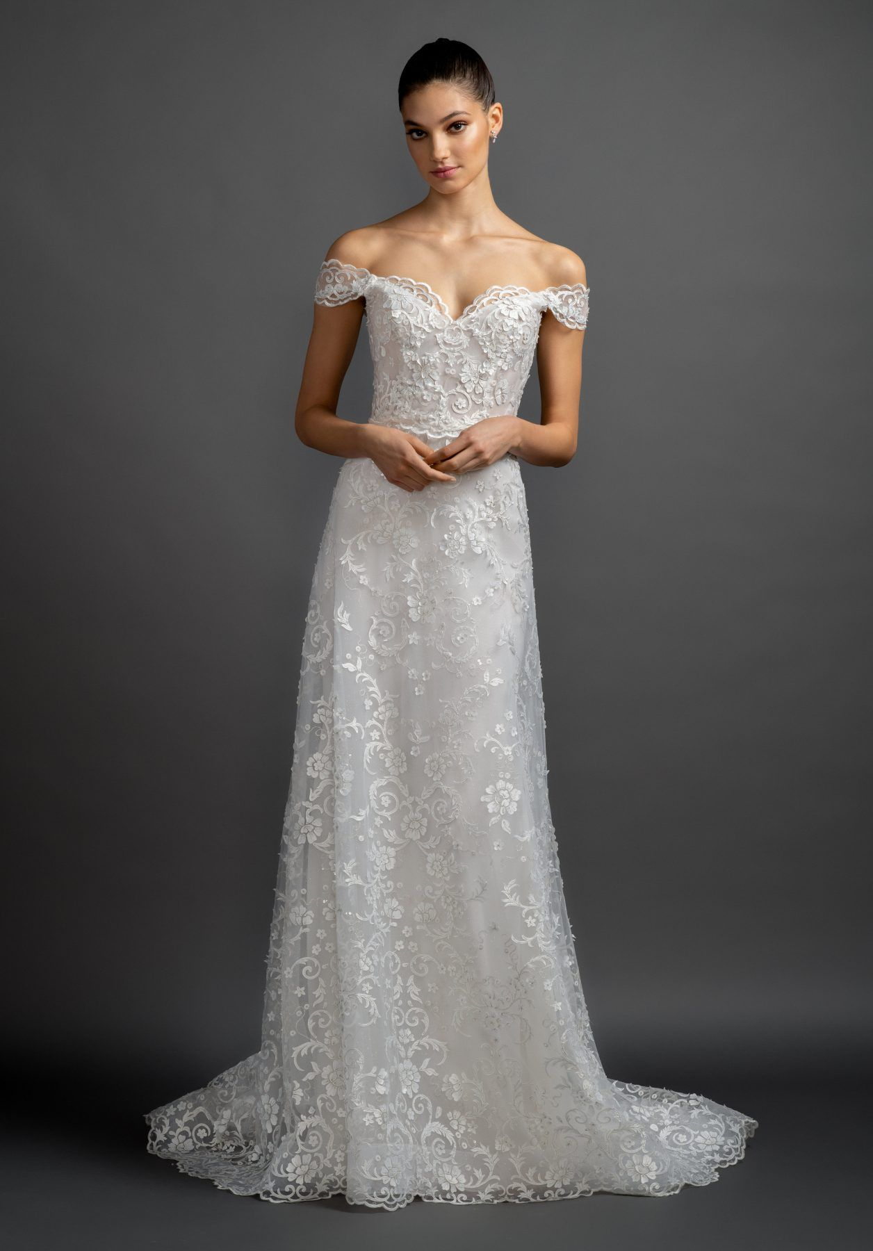 18+ Off the shoulder lace a line wedding dress ideas in 2021