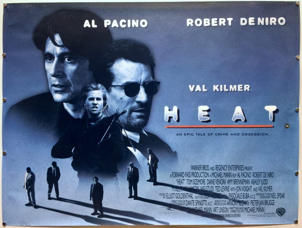 1995 Movie Posters: HEAT 1995 #vintage UK Quad #movie #poster. Michael Mann's