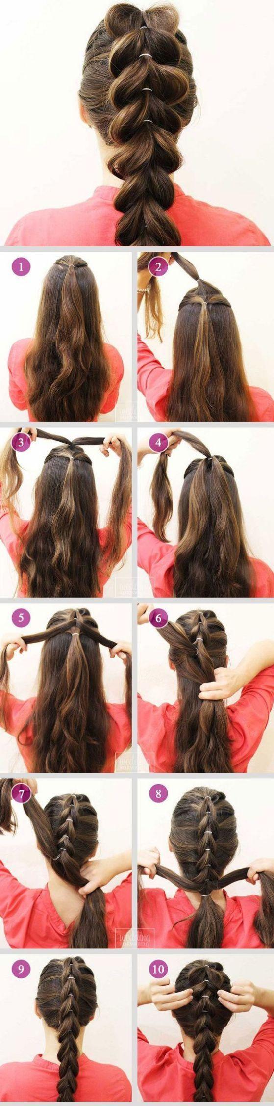 Peinados Con Trenzas Faciles Para Pelo Corto Largo Y Recogido - Ver-recogidos-de-pelo