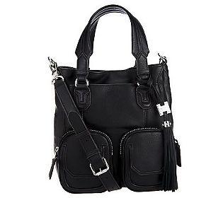 Aimee Kestenberg Leather Shoulder Bag w/Front Pockets
